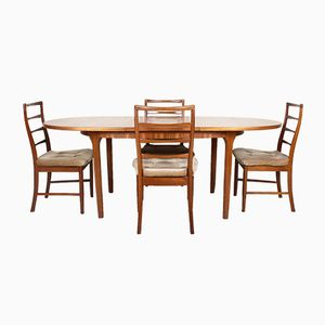 Vintage Dining Table & Chairs from McIntosh, 1950s