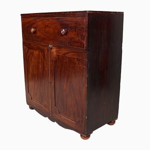 Antique Mahogany George II Linen Cabinet