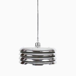 Vintage Chrome Pendant Lamp by Tamás Borsfay