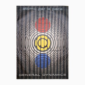 Atom for Peace Poster by Erik Nitsche for General Dynamics, 1955