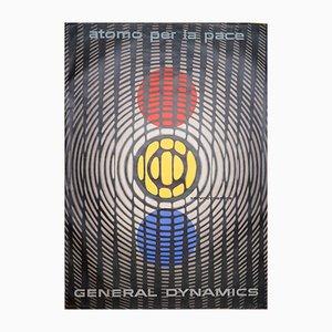 Póster Atom for Peace de Erik Nitsche para General Dynamics, 1955