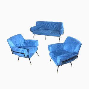 Italienisches Sofa- & Sesselset, 1950er