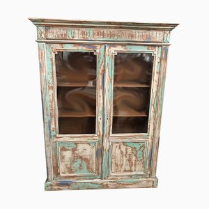 Vintage Patinated Display Cabinet, 1950s