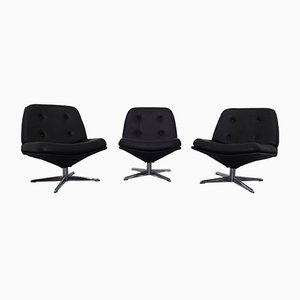 German Swivel Chairs, 1960s, Set of 3