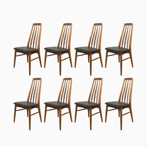 Rosewood Eva Dining Chairs by Niels Koefoed for Koefoeds Hornslet, 1960s, Set of 8