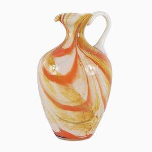 Vaso vintage in vetro marmorizzato di Carlo Moretti
