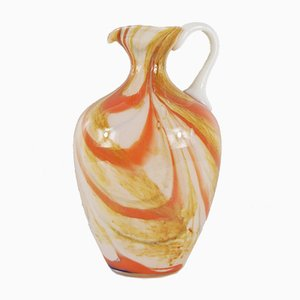 Vintage Marbled Glass Vase by Carlo Moretti