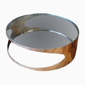 Chrome and Glass Coffee Table, 1970s
