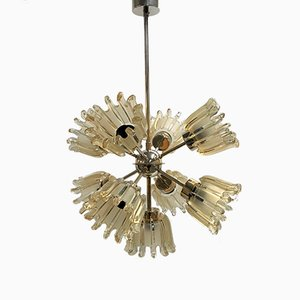 Glass Tulip Sputnik Chandelier from Doria, 1965