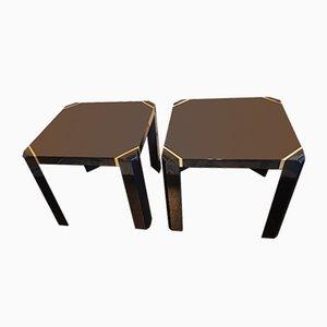 Tavolini ad incastro di Jean Claude Mahey per Roche Bobois, anni '70, set di 2