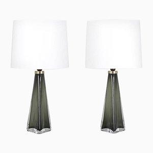 Lampes de Bureau RD1319 Mid-Century par Carl Fagerlund pour Orrefors, Suède, Set de 2
