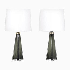 Mid-Century Swedish RD1319 Table Lamps by Carl Fagerlund for Orrefors, Set of 2