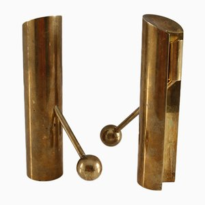 Swedish Brass Candle Holders by Pierre Forsell for Skultuna, 1960s, Set of 2