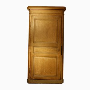 Antique French Patinated Corner Cupboard, 1860s