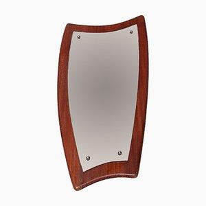Vintage Asymmetrical Teak Mirror