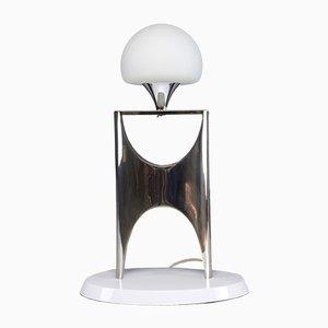 Lámpara de mesa vintage de aluminio, años 50