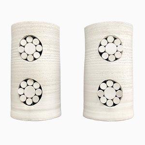 Apliques franceses vintage de cerámica de Georges Pelletier, años 70. Juego de 2