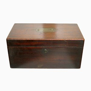 Antique Mahogany Box from Wells & Lambe