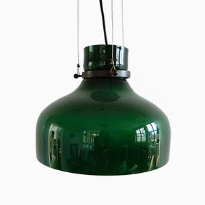 Vintage Green Glass Pendant Lamp