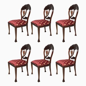 Vintage Handcrafted Mahogany Chairs, Set of 6