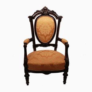 Armlehnstuhl aus Mahagoni & Stoff, 1920er