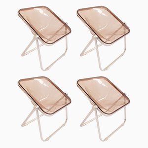 Plona Folding Chairs by Giancarlo Piretti for Castelli, Set of 4