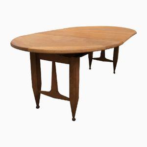 Oak Dining Table by Guillerme et Chambron for Votre Maision, 1950s
