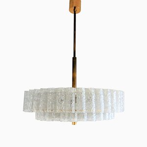 Crystal Glass Chandelier from Doria Leuchten, 1960s