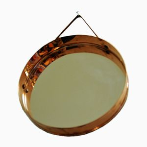 Round Copper Mirror, 1960s