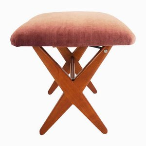 Vintage Adjustable Scandinavian Stool