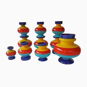 Ceramic Vases by Georg Schmider, 1950s, Set of 7