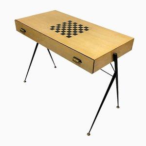 Escritorio italiano con tablero de ajedrez, años 60