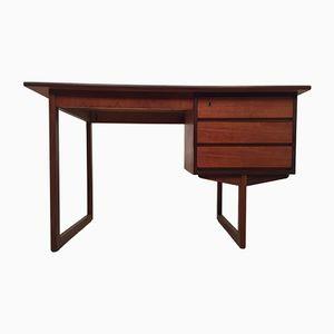 Dänischer Vintage Schreibtisch mit Einzelsäule