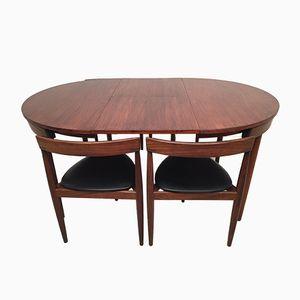 Ausziehbarer Esstisch & 4 Stühle von Hans Olsen & Frem Rojle für Frem Røjle, 1960er