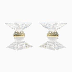 Italienische Couchtische aus Acrylglas, 1970er, 2er Set
