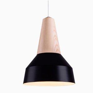 Lampe à Suspension Eikon Basic Noire en Frêne de Schneid Studio
