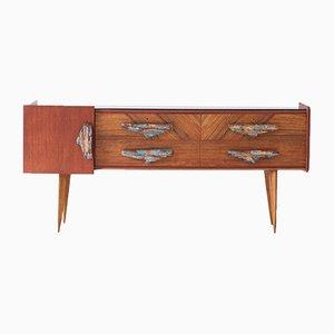 Italienisches Sideboard aus Mahagoni & Teak, 1950er