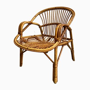 Vintage Rattan Children's Chair, 1960s