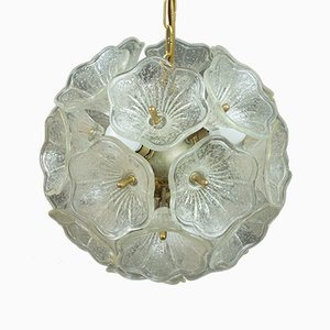 Murano Glass Flower Pendant from Venini, 1960s