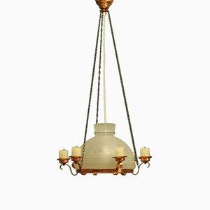Lámpara de araña sueca vintage, años 50