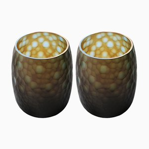 Jarrones de cristal de Murano, años 60. Juego de 2