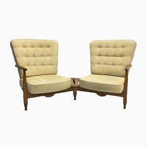 Chaises Sofa Vintage par Guillerme et Chambron pour Votre Maison, France, 1950s, Set de 2