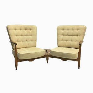 French Sofa Chairs by Guillerme et Chambron for Votre Maison, 1950s, Set of 2