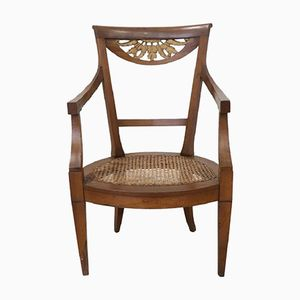 Antique Walnut Armchair, 1780s