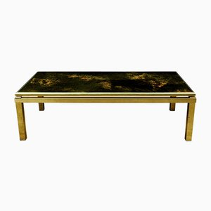 Brass and Glass Solar Eruption Coffee Table by Maison Jansen