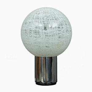 Große Muranoglaskugel-Tischlampe von Angelo Brotto, 1970er