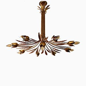 Lampada da soffitto vintage dorata