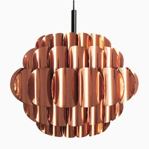 Vintage Copper Ceiling Light from Temde, 1960s