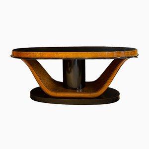 Ovaler italienischer Vintage Art Deco Tisch