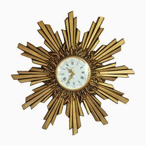 Horloge en Forme de Soleil de Maison Jaeger, 1970s